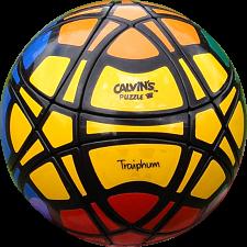 Traiphum Megaminx Ball - (6-color) Black Body -