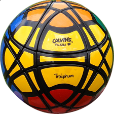 Traiphum Megaminx Ball - (6-color) Black Body - Other Rotational Puzzles