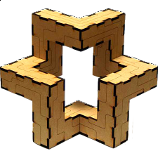 Step-Star 3D Puzzle - Other Wood Puzzles