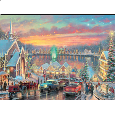 Thomas Kinkade - The Lights of Christmastown