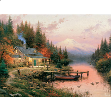 Thomas Kinkade - The End of a Perfect Day