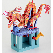 Automata Collection - The Dragon on the Cloud - Paper Model Kit - Designers