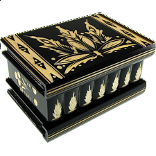 Romanian Puzzle Box - Large Black - Puzzle Boxes / Trick Boxes