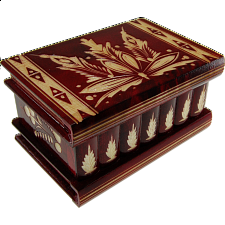 Romanian Puzzle Box - Large Red - Wooden Puzzle Boxes