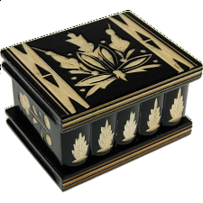 Romanian Puzzle Box - Medium - Black - Wooden Puzzle Boxes