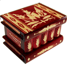 Romanian Puzzle Box - Medium - Red - Wood Puzzles