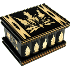 Romanian Puzzle Box - Small Black - Wood Puzzles