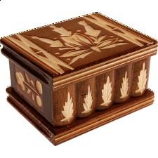 Romanian Puzzle Box - Small Brown - Wood Puzzles