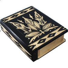 Romanian Secret Book Box - Black - Wood Puzzles