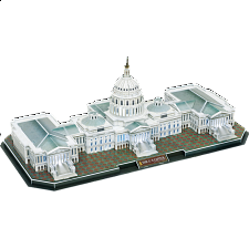 The Capitol Hill - LED Lit - 3D Jigsaw Puzzle - 101-499 Pieces