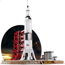 Saturn V Rocket - 3D Jigsaw Puzzle - 3D