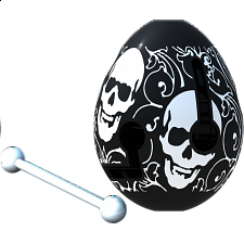 Smart Egg Labyrinth Puzzle - Skull - Maze Puzzles