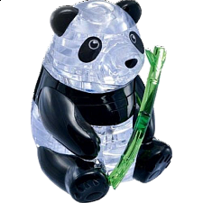 3D Crystal Puzzle - Panda - Plastic Interlocking Puzzles