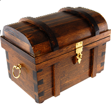 Wooden Treasure Chest - Style B