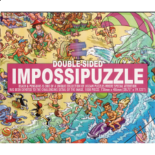 Double-sided Impossipuzzle: Beach & Penguins