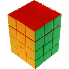 Center shifted 3x3x4  i-Cube with Evgeniy logo - Stickerless - Rubik's Cube & Others