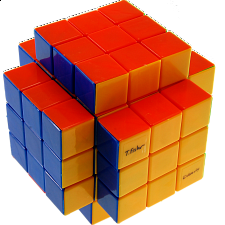 Calvin's 3x3x5 Cross-Cube with Fisher & Evgeniy logo Stickerless - Aleh Hladzilin