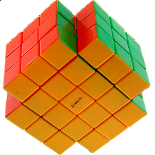 Calvin's 3x3x5 X-Shaped-Cube with Evgeniy logo - Stickerless - Rubik's Cube & Others