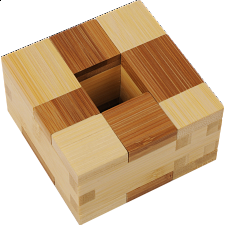 Funzzle - Bamboo Wood Puzzle - Kappa - Puzzle Master Wood Puzzles