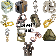 .Level 7 - a set of 13 Hanayama puzzles