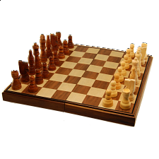 Chess Set - 11 inch Walnut Finish (Magnetic, Folding) -
