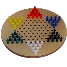 17 inch Jumbo Chinese Checkers - Wood Games