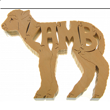 Lamb - Wooden Jigsaw - Wooden Jigsaws