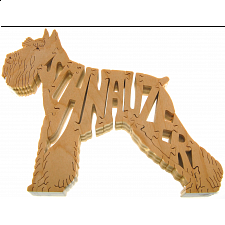 Schnauzer Dog - Wooden Jigsaw