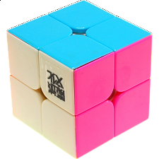 LingPo 2x2x2 Stickerless Body (with Pink) for Speed Cubing -