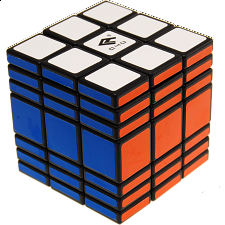 Fully Functional 3x3x7 Cube - Black Body - Rubik's Cube & Others