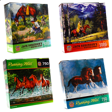 Jigsaw Puzzle Value Set - Horses