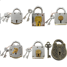 Group Special - a set of 6 Trick Lock puzzles - Wire & Metal Puzzles