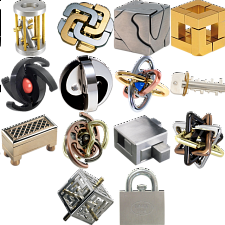 Group Special: a set of 14 metal puzzles