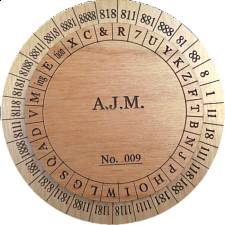 Union Army Cipher Disk - Wood Puzzles
