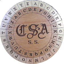 Confederate Army Cipher Disk - Wood Puzzles