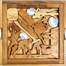 Curling Fanatic Puzzle - Wood Puzzles