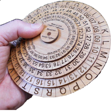 Mexican Army Cipher Wheel - Other Wood Puzzles