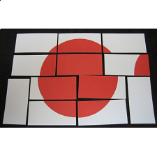 Hinomaru: Japanese Flag Puzzle (Card-stock Edition) - Paper Puzzles