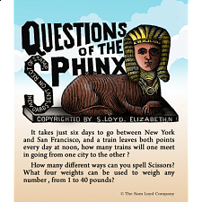 Questions of the Sphinx - Misc Puzzles