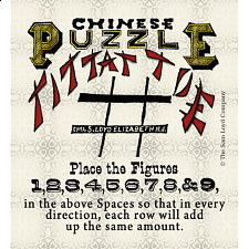 Chinese Puzzle Tittat Toe - Search Results