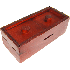 Secret Opening Box - Double Button Bank -