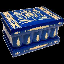 Romanian Puzzle Box - Large Blue -