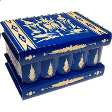 Romanian Puzzle Box - Large Blue - Wooden Puzzle Boxes
