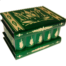 Romanian Puzzle Box - Large Green - Wooden Puzzle Boxes