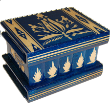 Romanian Puzzle Box - Medium - Blue - Wood Puzzles
