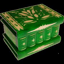 Romanian Puzzle Box - Medium Green -