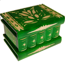 Romanian Puzzle Box - Medium Green - Wood Puzzles
