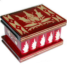 Romanian Puzzle Box - Small Red - Wood Puzzles