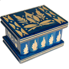 Romanian Puzzle Box - Small Blue - Wood Puzzles