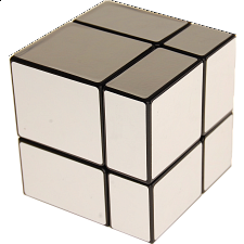 Mirror 2x2x2 Cube - Black Body with Silver Labels - Rubik's Cube & Others